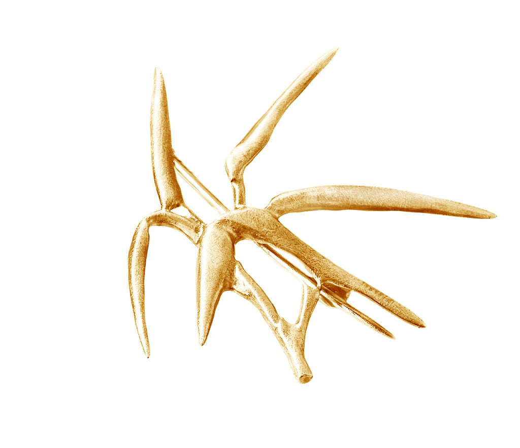 18 Karat Rose Gold Bamboo Brooch N1 by the Artist, Featured in Vogue