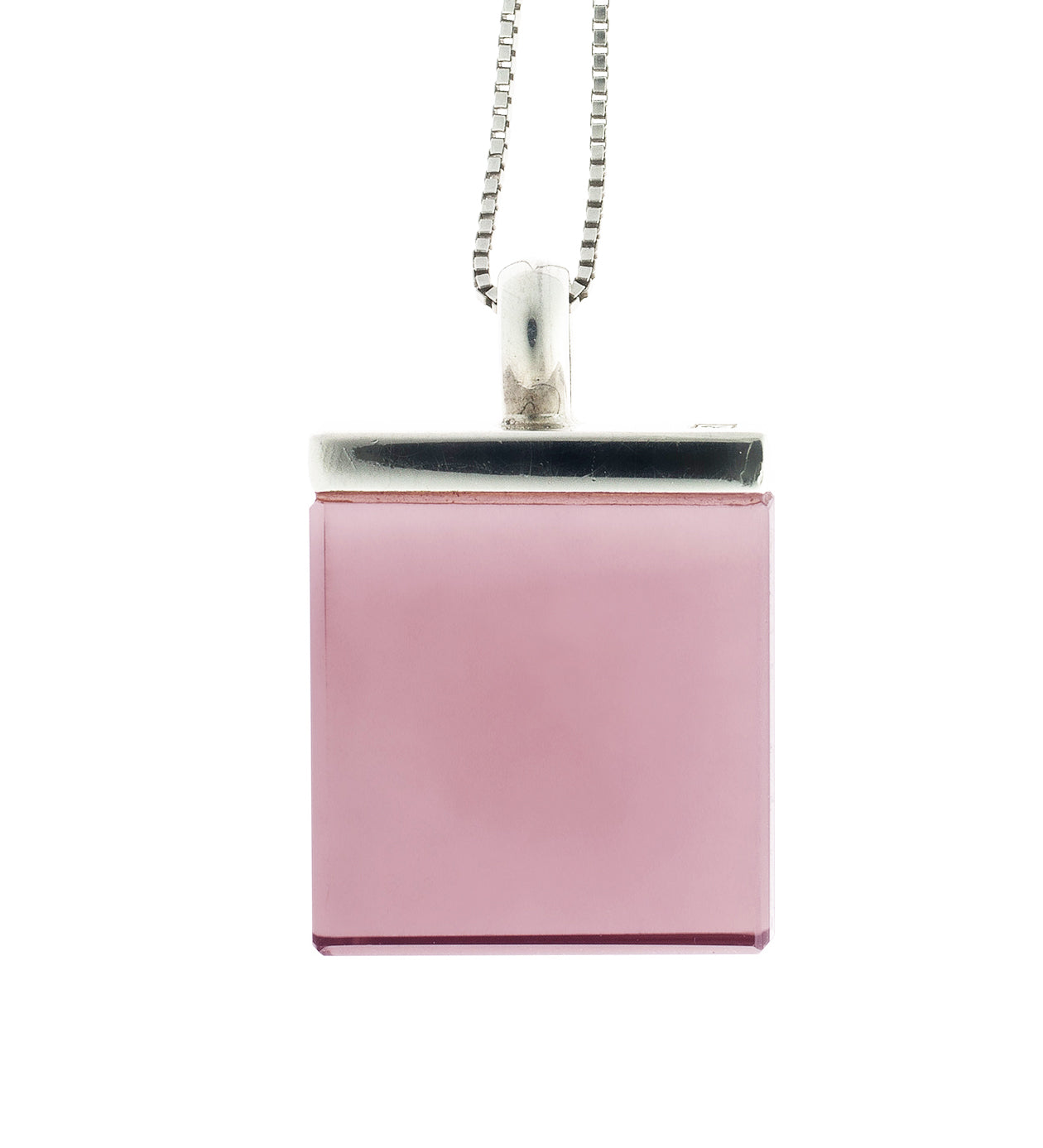 Contemporary Pendant Necklace with Rose Quartz by the Artist