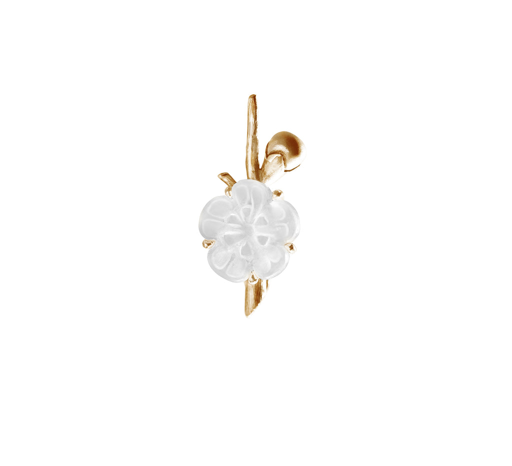 Sakura brooch in 18 KT yellow gold