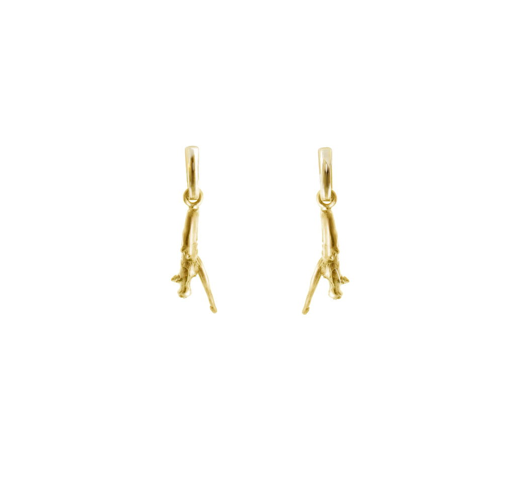 Tea earrings in 18 KT yellow gold