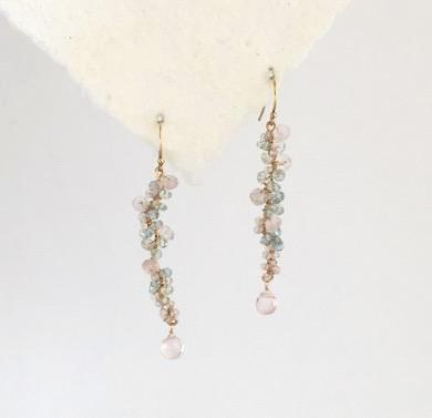 Bubble Rose Quartz Earrings