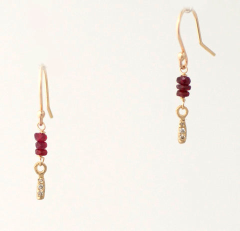 Shizuku Ruby Earrings