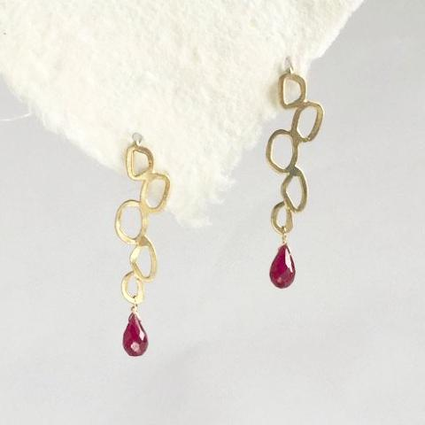 Klimt Ruby earrings