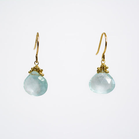 Bubble Accent Aquamarine earrings