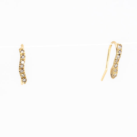 Driftwood Sparkle Diamond Earrings