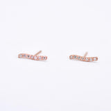 Driftwood Sparkle Diamond & Rose Gold Stud Earrings