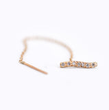 Driftwood Sparkle Diamond & Gold Chain Earring