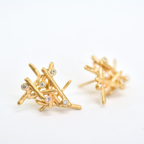 Firewood Diamond Earrings