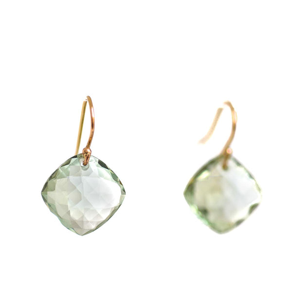 Pillow Dreams Green Amethyst Earrings