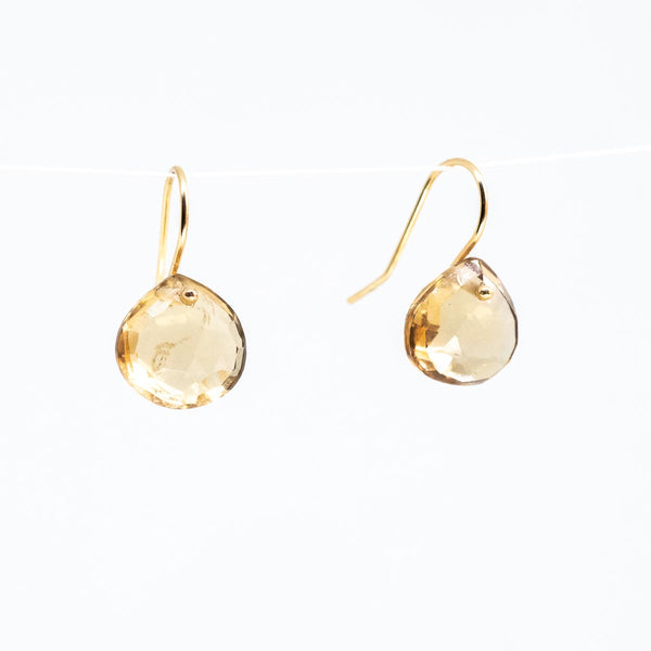 Champagne drop Earrings