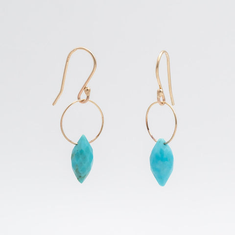Single Stone Turquoise Earring