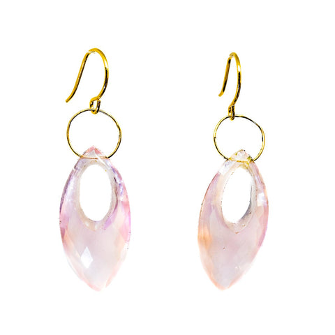 Rose Quartz Pointy Marquise Earring