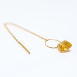 Fancy cut citrine Threader Earring 2