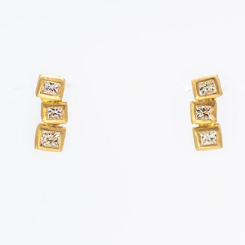 Stacking Blocks Tower Earrings