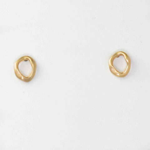 """O"" (Hug) Gold Earrings"