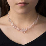 Choker Necklace-Rose quartz
