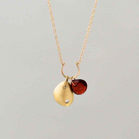 Horseshoe and Flower Petal Necklace