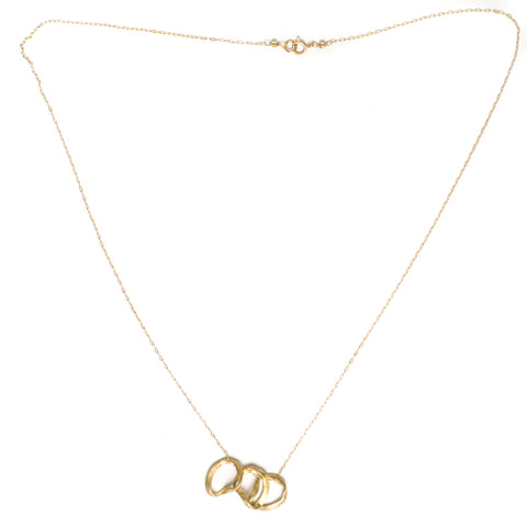3 Mobius Ring Necklace