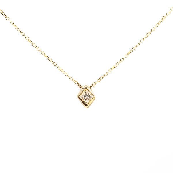 Princess in a Cube Diamond Necklace V1