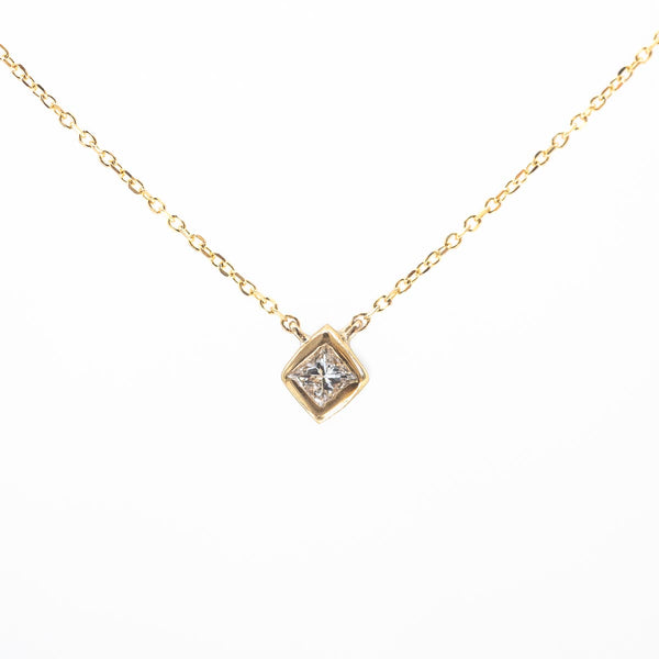 Princess in a Cube Diamond Necklace V2