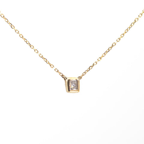 Princess in a Cube Diamond Necklace V3
