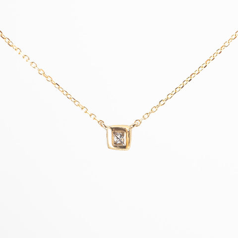 Princess in a Cube Diamond Necklace V4