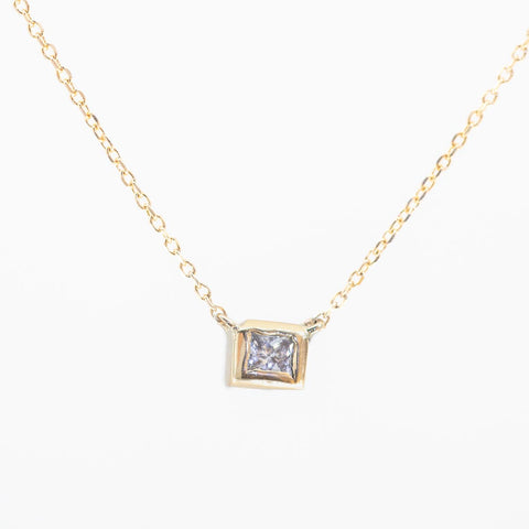 Princess in a Cube Diamond Necklace V5