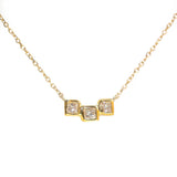 Triple Threat Diamond Necklace