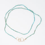 Turquoise Hook and Rings Necklace