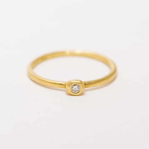 Gold Medal Solitaire Ring
