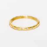 18k Gold Seven Across Band
