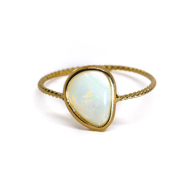 Opal Clarion Twist Ring (option A)