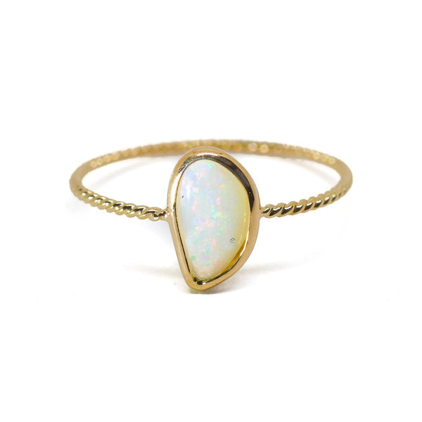 Opal Clarion Twist Ring (option B)