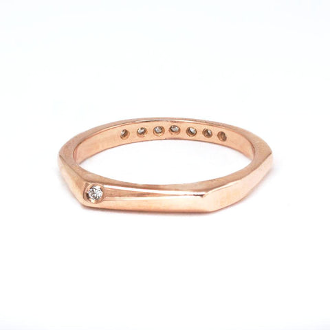 Double-faced Rose Gold diamond ring