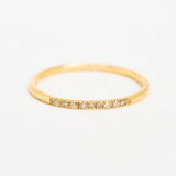 Straight Path Yellow Gold Ring