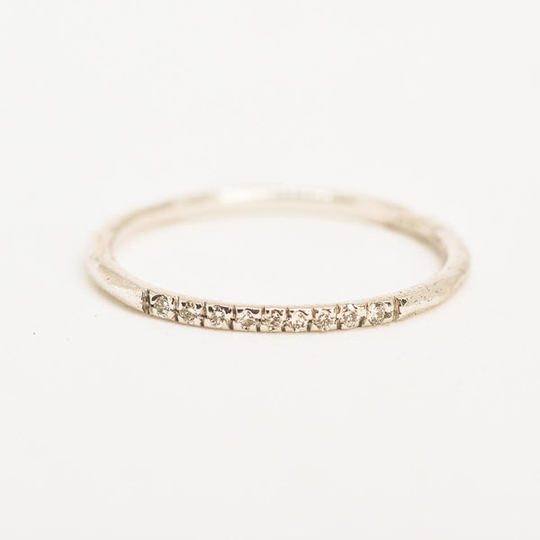 Straight Path White Gold Ring