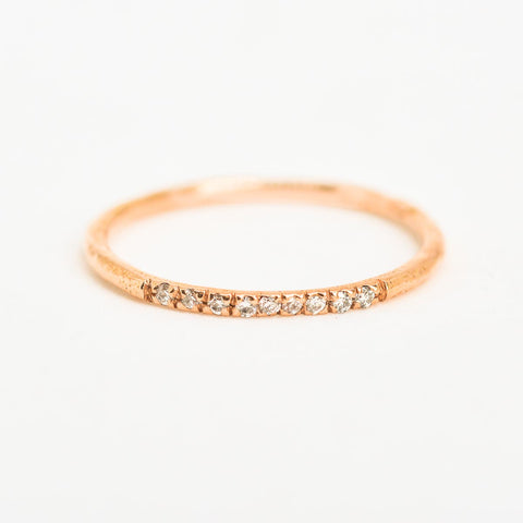 Straight Path Rose Gold Ring