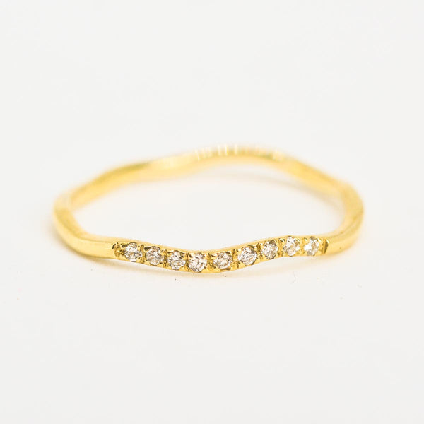 Wandering Path Yellow Gold Ring