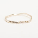 Wandering Path White Gold Ring
