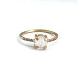 Rainbow Moonstone Sparkle Ring