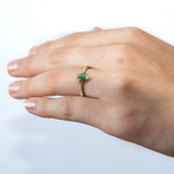Emerald Shield Sparkle Ring
