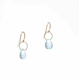 Pear Shape Single Aquamarine Earrings