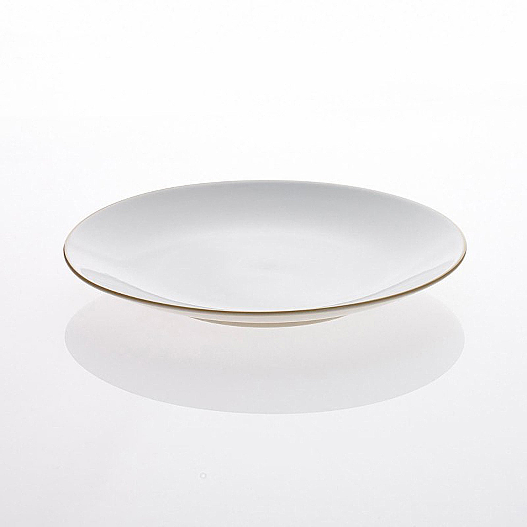 Oyyo large bone China dinner plate by Teroforma from Abode New York.