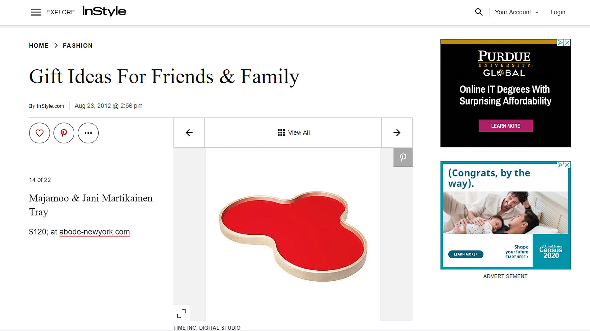 Gift Ideas For Friends & Family: The Design Buff - Majamoo Birch Tray (red).