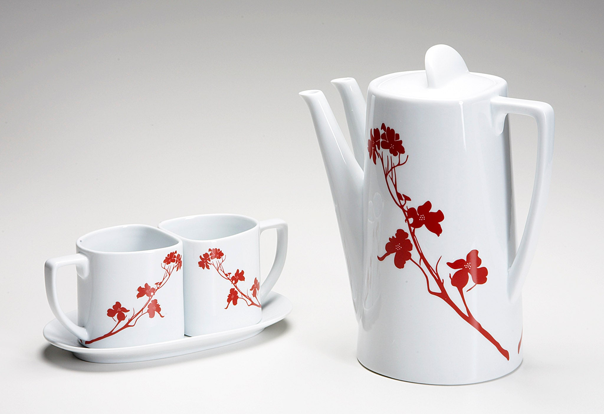 Marla Dawn Home's Tea for Two set in dogwood blossom.