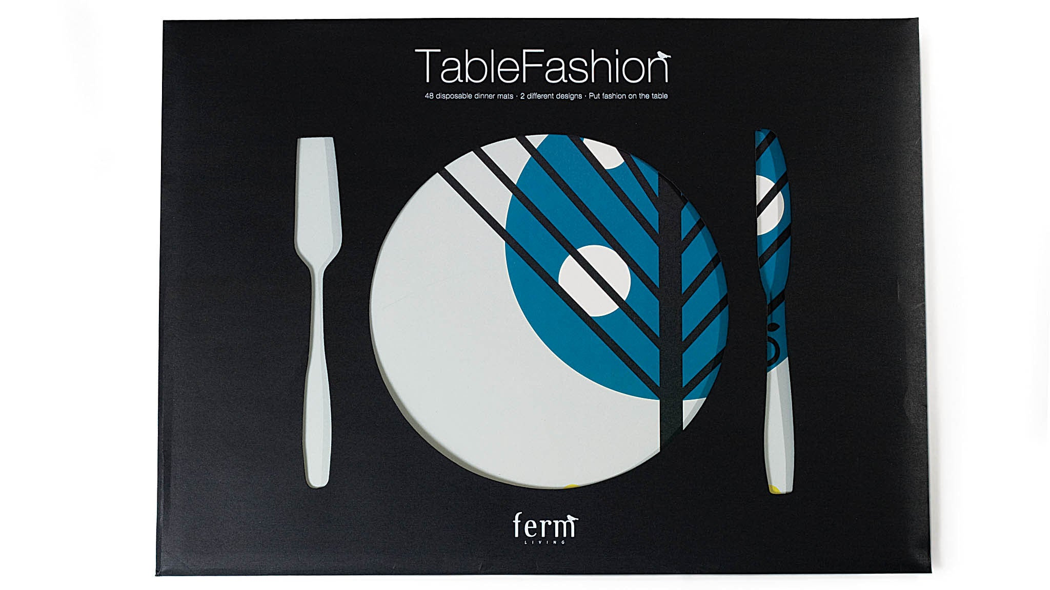 TableFashion: Put fashion on the table with beautiful, graphic and disposable dinner mats. Not only are these paper sheets super practical but they also turn any table into a graphic masterpiece in no time. One set contains 48 sheets, 24 of each design.