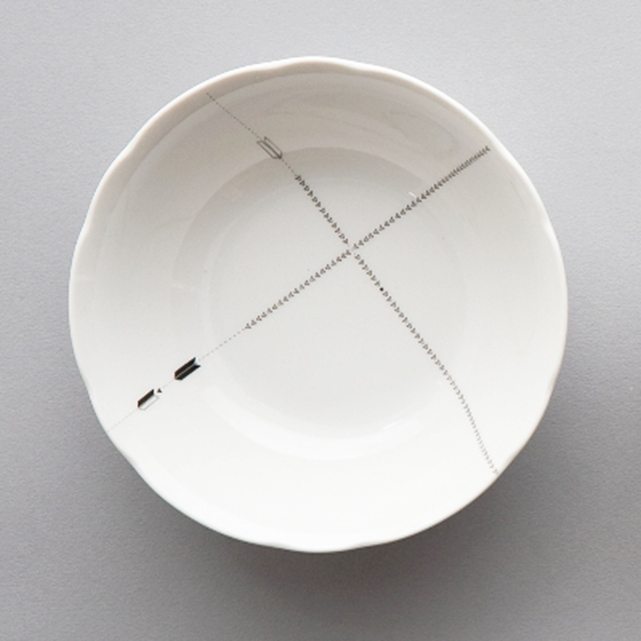 Designed by Colene Blanchet and Annie Lenon, Saetta dishware collection is inspired by maps, paths, geometry, space and lightning.