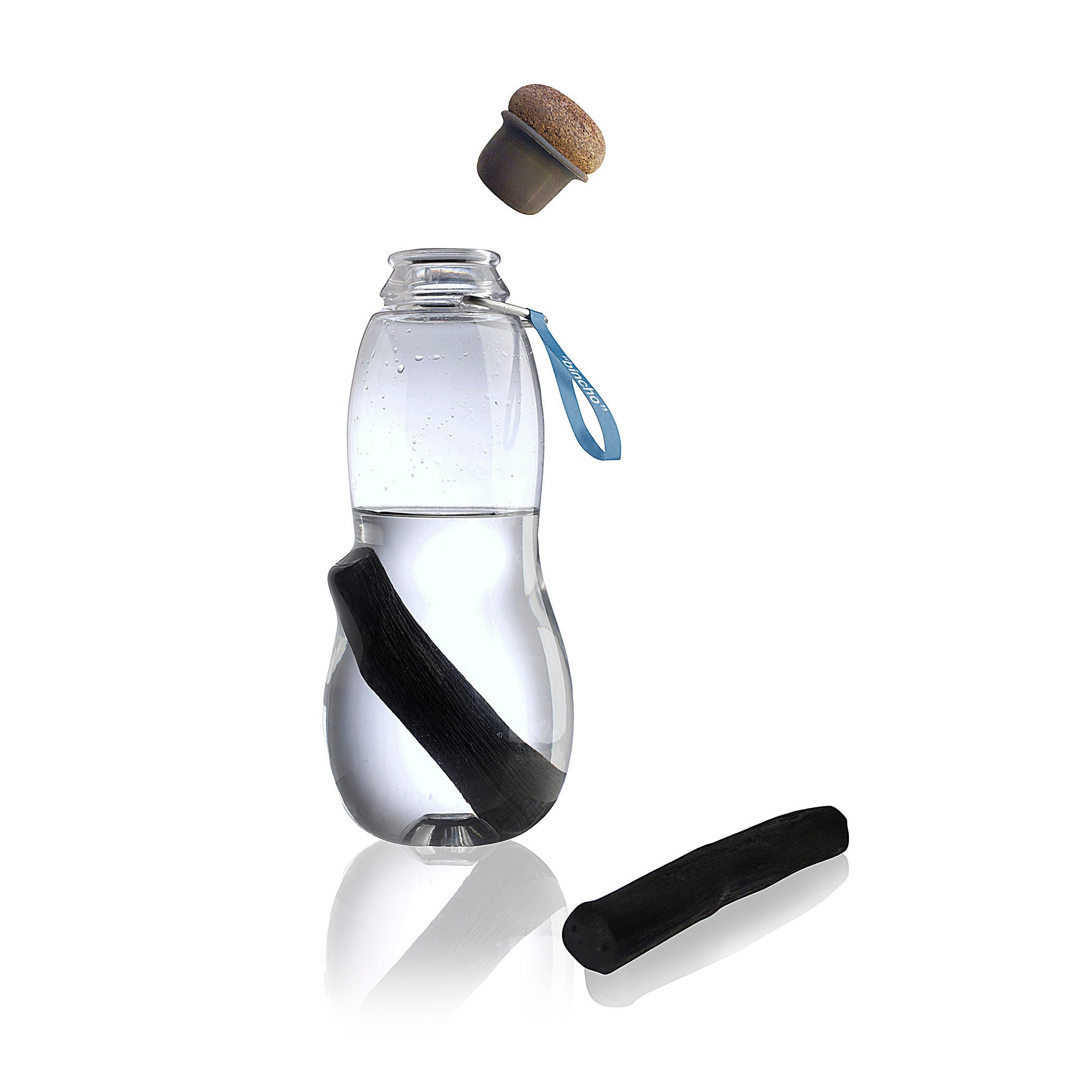 Black + Blum's Eau Good water bottle with charcoal filter.