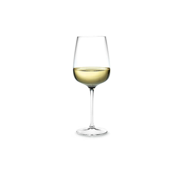HOLMEGAARD BOUQUET WHITE WINE GLASS. SKU 4803112. Height: 21.3 cm. Volume: 41 cl. Dishwasher safe up to a maximum of 55°C.