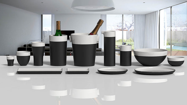 Magisso Cooling Ceramics White Line Collection for Beverages